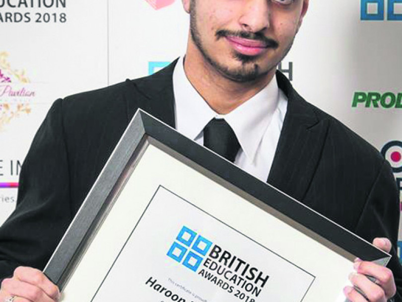 College student Haroon is a star
