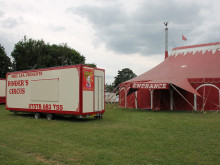 Yobs force circus to pack up and flee