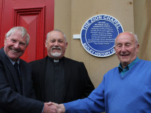 Town's history group unveils new plaque