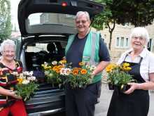 Volunteers putting pride back into town with colourful displays