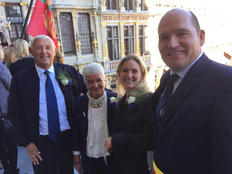 Place Jo Cox unveiled in Brussels