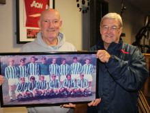Dementia-suffering ex-Huddersfield Town star reminisces with former colleague