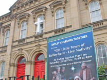 Live nativity in Batley Market Place