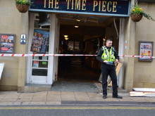 Drinkers evacuated after car crashes into pub's entrance