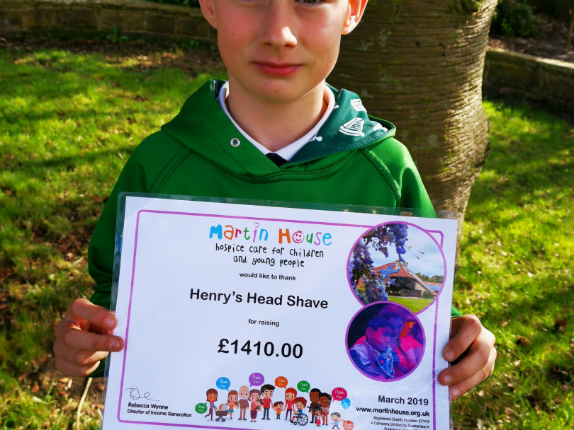 Henry's close shave for a great cause