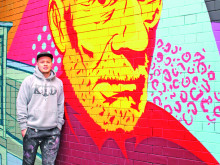 Graffiti artist's mural tribute to town is a rail treat!