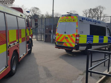 Yobs start park fires – then attack emergency crews