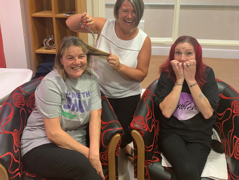 Care workers brave the shave