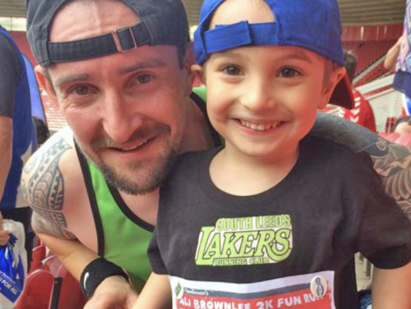 Harry and dad take on epic charity runs