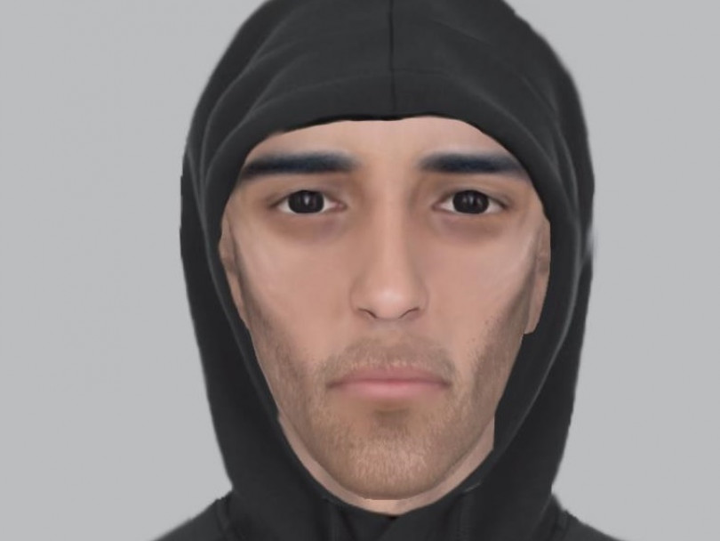 E-fit of suspect released after violent robbery