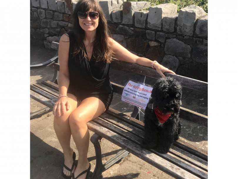 Campaigner launches 'happy benches' scheme