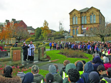 Pupils' poems for peace form moving Armistice tribute