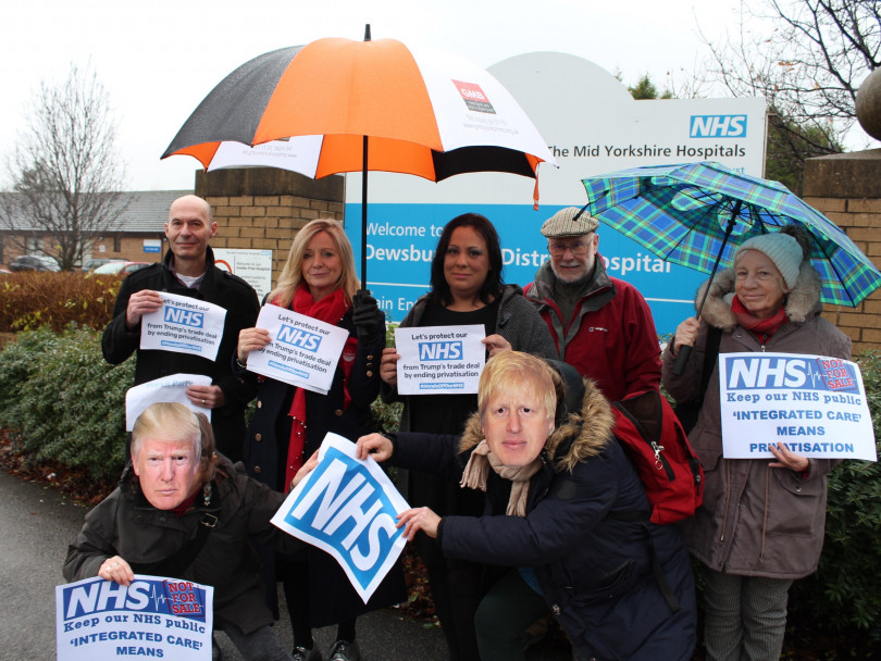 Campaigners and election candidates in NHS pledge