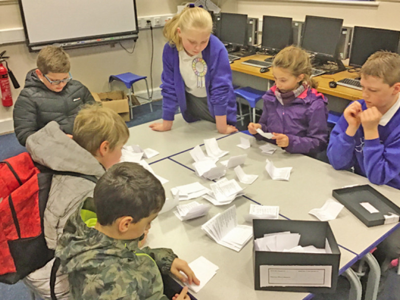 Pupils take lessons in democracy