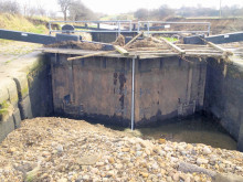 Floods force canal closure for a year