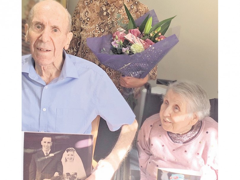 Care home couple celebrate 65 years together