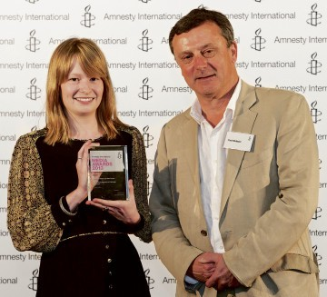 TOP PRIZE: Student journalist Lauren Wilks